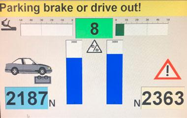 auto testa līnijas dati